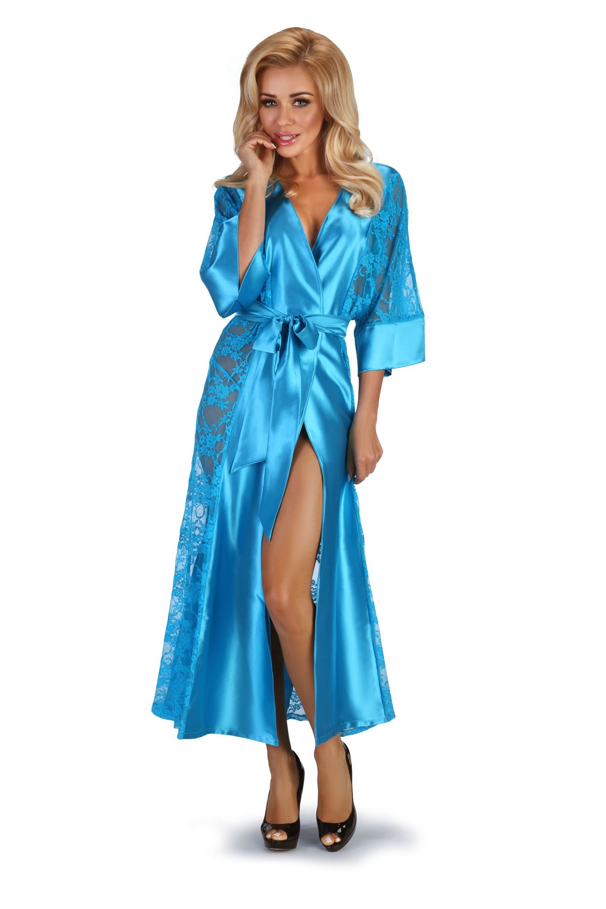 Bouquet turquoise | Collection \ Dressing gowns Collection | Beauty ...