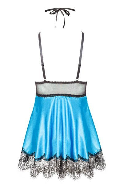 Eve chemise with mask turquoise
