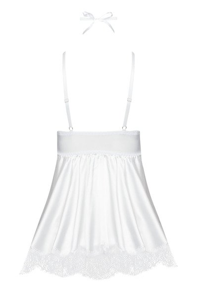 Eve chemise with mask white